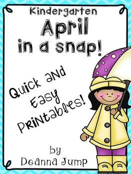April in a Snap:  Ready to Go Printables for Common Core Skills