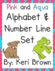Aqua and Blue Alphabet and Number Line