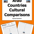 Arab Countries Comparisons Worksheet / Arabic