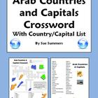 Arab Countries Crossword, ID's & Country & Capital List