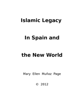Arabic Culture in Spain and the New World