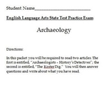 Archaeology Practice English Language Arts Assessment with Essay