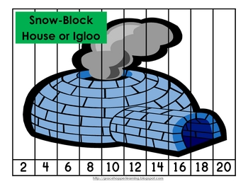 Arctic Number Order and Skip Counting Puzzles