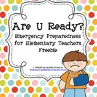 Are U Ready?  Emergency Preparedness Freebie