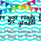 Are You Ready for 5th Grade?  10 Math Projects for the End