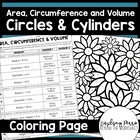 Area, Circumference & Volume of Circles & Cylinders Colori