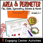 Area & Perimeter Activity Task Cards ~ Flip, Slide, Rotate