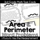 Area & Perimeter Story Problems Task Cards