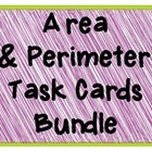 Area & Perimeter Task Cards Bundle Common Core Aligned