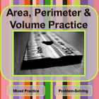 Area, Perimeter & Volume Practice - Problem-solving with M