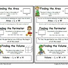 Area, Perimeter, &amp; Volume Resource Notebook Poster