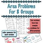 Area Problems for 8 groups