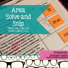 "Area ""Solve and Snip""- Practice Problems- Common Core"
