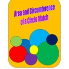 Area and Circumference of a Circle Match