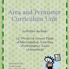 Area and Perimeter 10 day lesson plan and unit Common Core