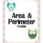 Area and Perimeter Freebie