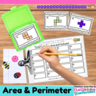 Area and Perimeter {Math Workshop Activity}