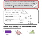 Area of Rectangles and Triangles