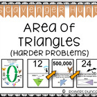 Area of Triangles Scavenger Hunt (harder problems)