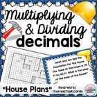 Area~Multiply Divide DECIMALS House Plans Theme Word Probl