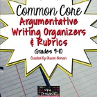 Argument Writing & Rubrics Common Core/PARCC Grades 9-10
