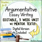 Argumentative Essay Writing {Common Core Aligned}