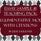 Argumentative Sample Essay, Prompt, Stimuli Teaching Pack