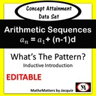 Arithmetic Sequences Concept Attainment