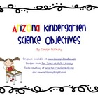 Arizona Kindergarten Science Objectives