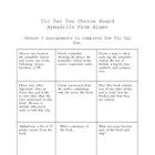 Armadillo From Amarillo Differeniated Choice Board