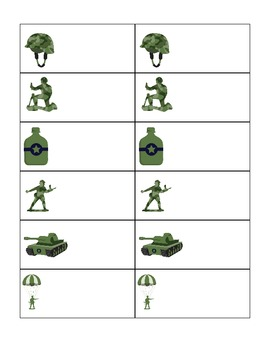 Army Customizable File Folder Game