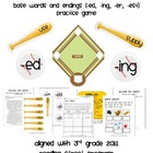 Around the Bases Game (base words/endings ed, ing, er, est