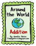 Around the World Addition Flashcards