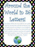 Around the World Alphabet Wall for Word Wall  - Cultural A
