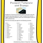 """Around the World"" Passport Template and Stamps"