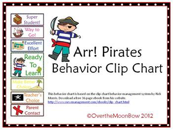 Arr! Pirates Behavior Clip Chart