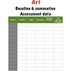 Art Baseline & Summative Assessment Templet