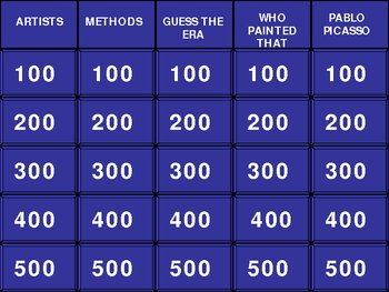 Art Jeopardy!