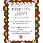 Art Journal for Middle Years Students