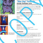 Art Lesson - Blue Dog portrait George Rodrigue (elementary