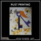 Art Lesson. High School Rust Printing Lesson Plans and Pre