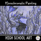 Art Lesson Plan. Monochromatic Watercolor Pencil. High Sch