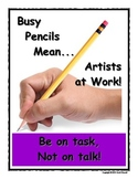 Art Room Rules Poster - Busy Pencils
