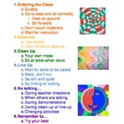 Art Room Rules and Procedures