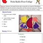 Art of the World: Frida Kahlo Style Fruit Collage Lesson