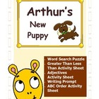 Arthur&#039;s New Puppy / Writing Prompt / ABC Order / Math / A
