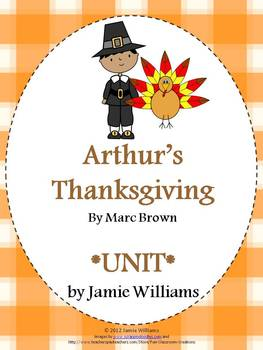 Arthur's Thanksgiving Book Unit