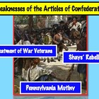 Articles of Confederation: Weaknesses and Early Rebellions