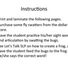 Articulation Bugs - /k/, /g/, and /s/