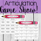 Articulation Game Show: Sh, Ch, Th, S, R Edition